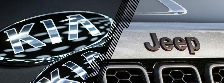 Kia logo and Jeep Logo