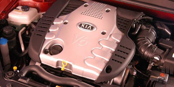 Engine in 2007 Kia Optima