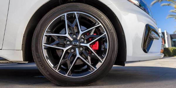 Closeup of wheel on 2020 Kia Optima