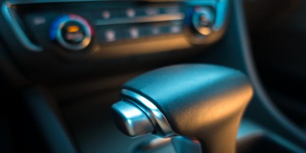 Closeup of gear shift in 2020 Kia Optima