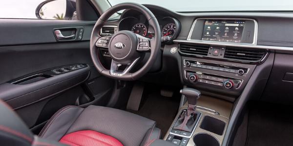 Steering wheel in 2020 Kia Optima