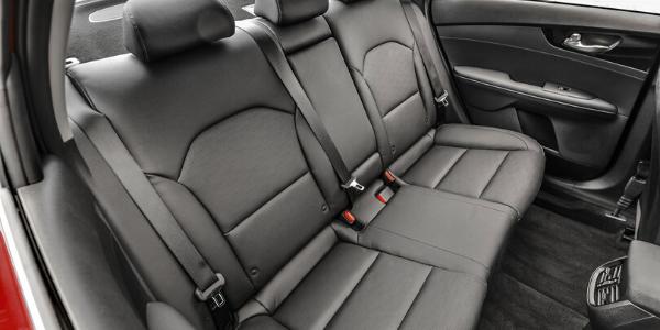 Rear seats in 2020 Kia Forte