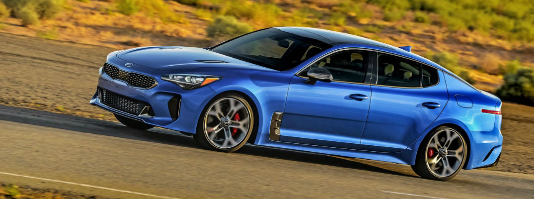 Blue 2020 Kia Stinger