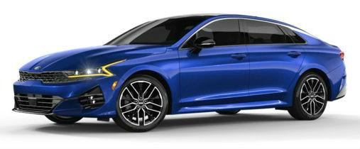 2021 Kia K5 in Sapphire Blue