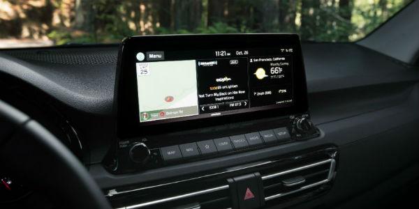 Infotainment screen in 2021 Kia Seltos