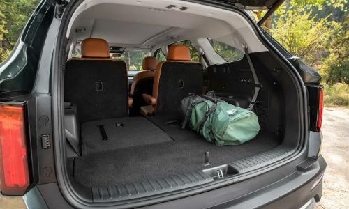 Open trunk of 2021 Kia Sorento X-Line