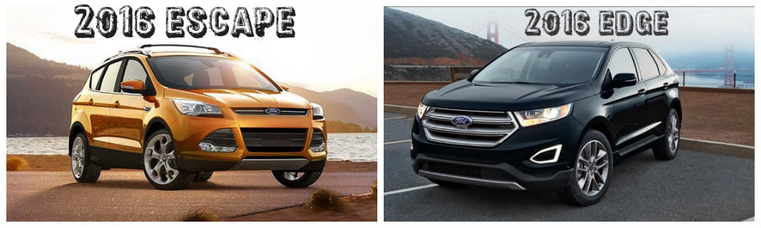 2016 ford escape vs 2016 ford edge