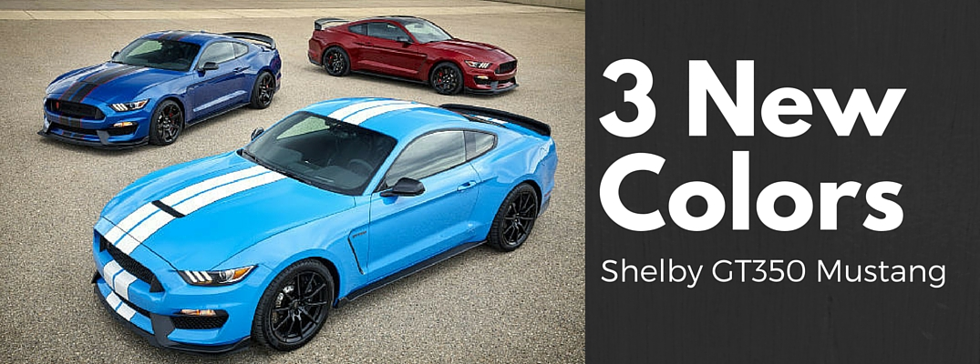 Ford Shelby GT350 Mustang New Colors 2017