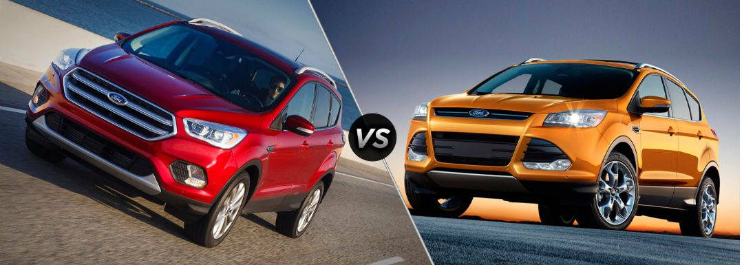 Differences between 2017 and 2016 Ford Escape