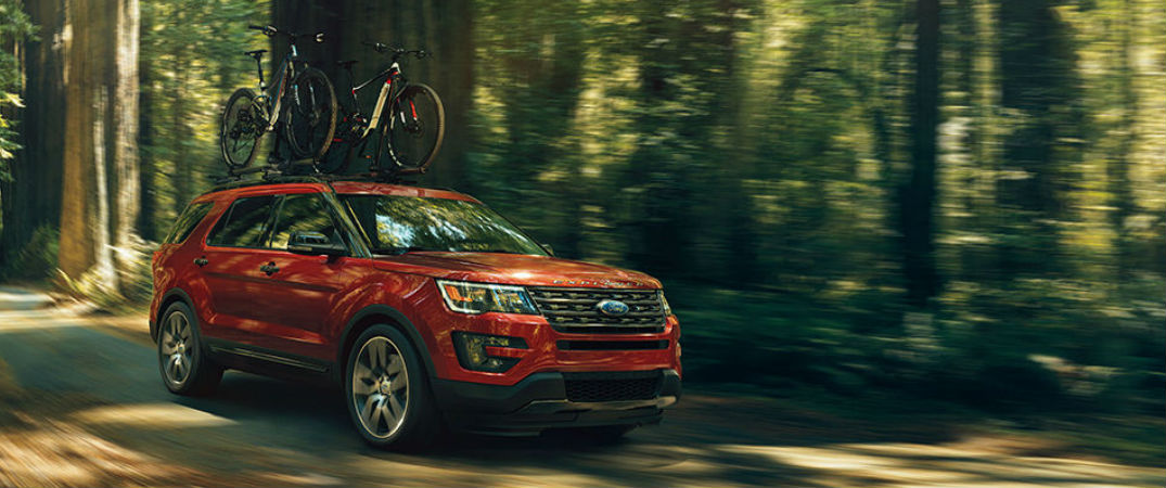 2017 Explorer in Red