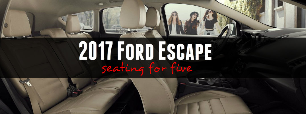 2017 Ford Escape Seats 5