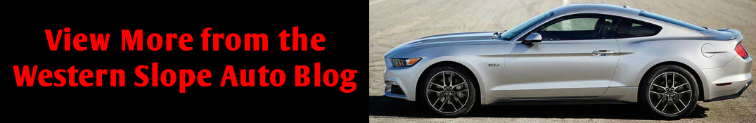View More from the Western Slope Auto Blog Title and Ford Mustang