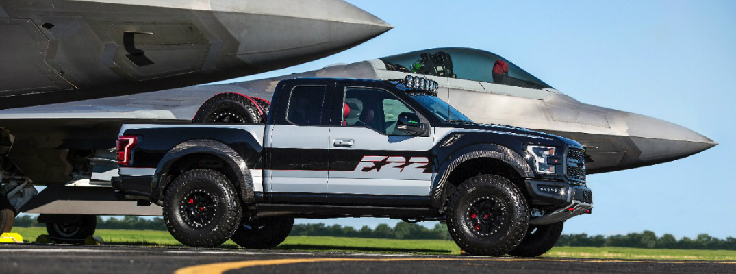 F-22 Fighter Jet-Inspired Ford F-150 Raptor at 2017 EAA AirVenture