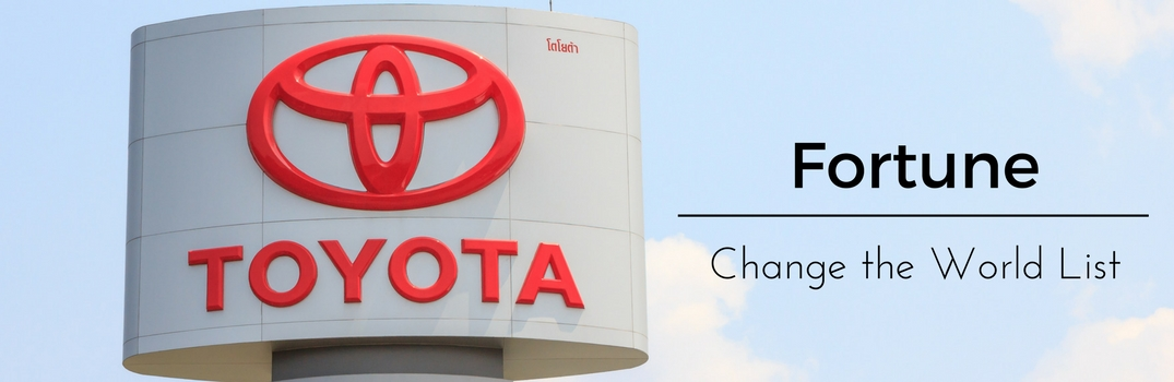Fortune Names Toyota to its Change the World List