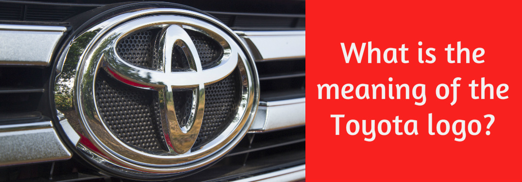What is the meaning of the Toyota logo?