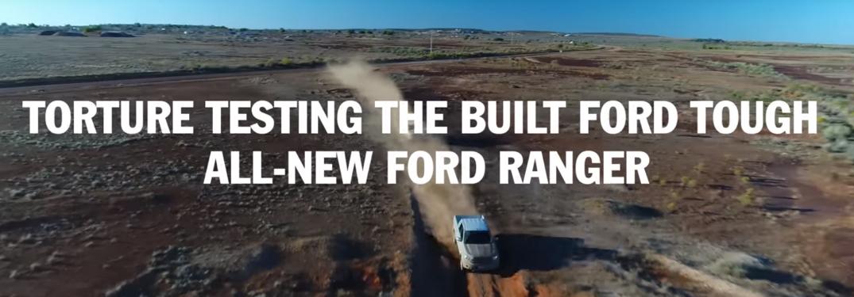Ford Ranger Testing Heading and 2019 Ford Ranger Driving Through the Desert