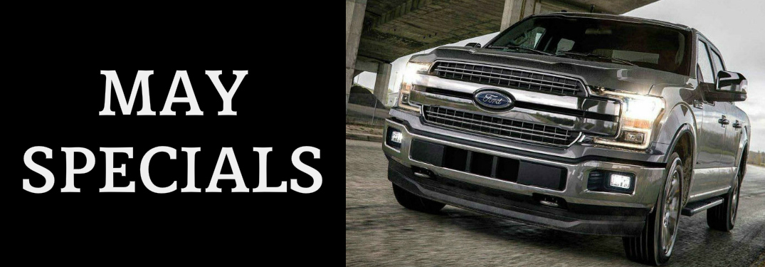 May Specials Title and Grey 2018 Ford F-150