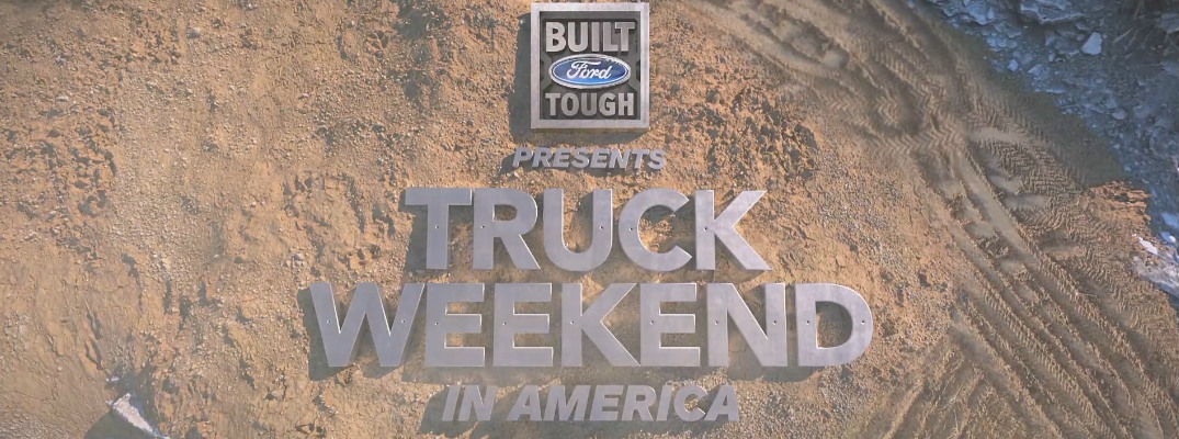 Truck Weekend in America Title and a Background of Sand and Gravel