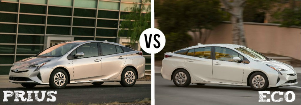 2016 toyota prius vs 2016 toyota prius eco. Black Bedroom Furniture Sets. Home Design Ideas