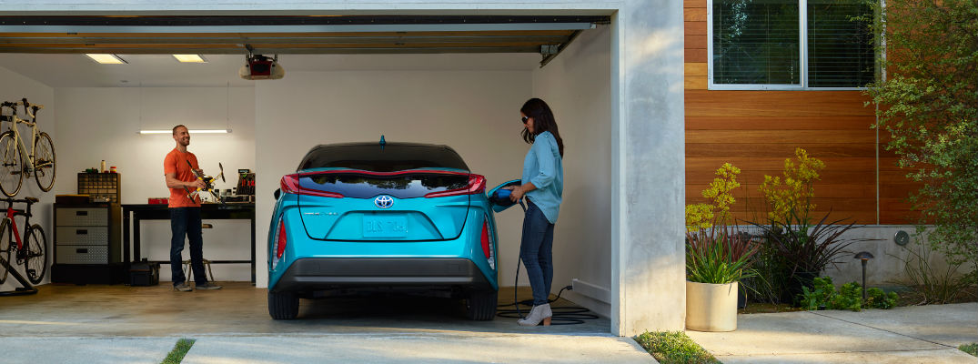 Prius Prime being charged