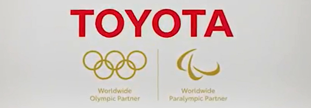 Toyoto Logo and Worldwide Olympic Partner and Worldwide Paralympic Partner Titles