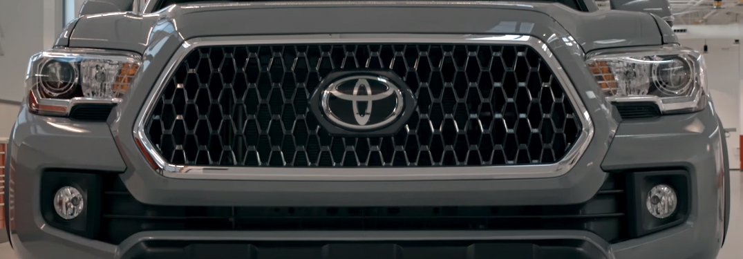 Grille of Grey 2018 Toyota Tacoma