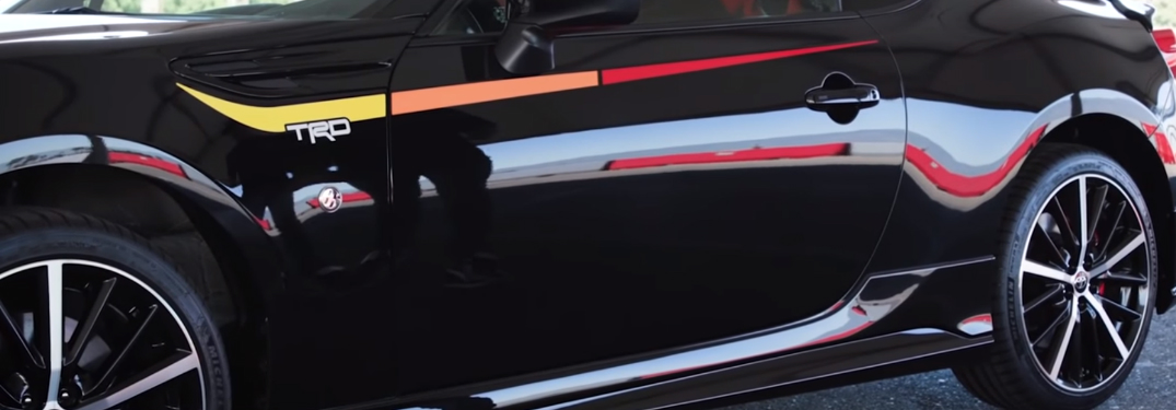 Close-up View of the Side of a Black 2019 Toyota 86 TRD Special Edition