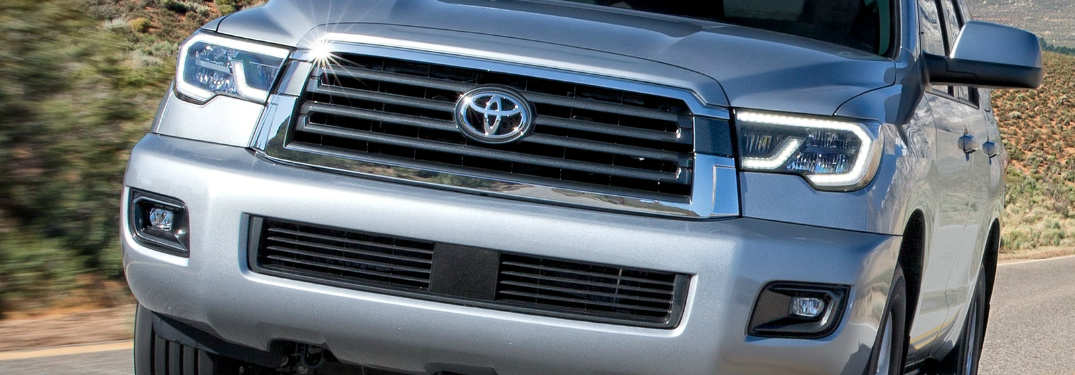 Front View of Silver 2019 Toyota Sequoia