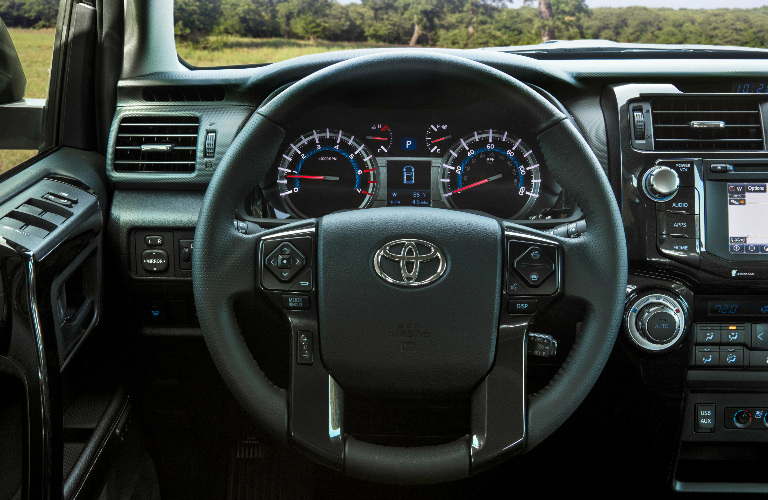 Steering Wheel, Gauges, and Touchscreen in 2019 Toyota 4Runner Nightshade Special Edition