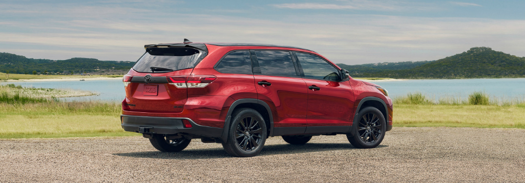 2019 Toyota Highlander Nightshade Special Edition Parked Near The