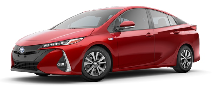2019 Prius Prime in Hypersonic Red