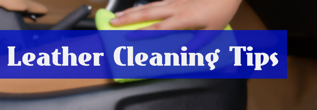 How should you clean your leather interior?