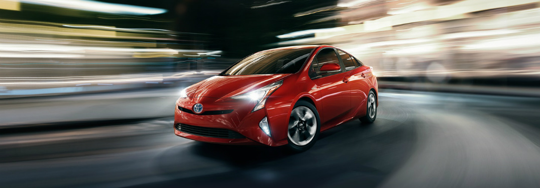 red 2018 Toyota Prius front side exterior