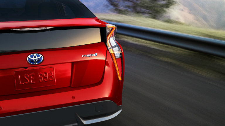 Red 2018 Toyota Prius Hybrid Logo