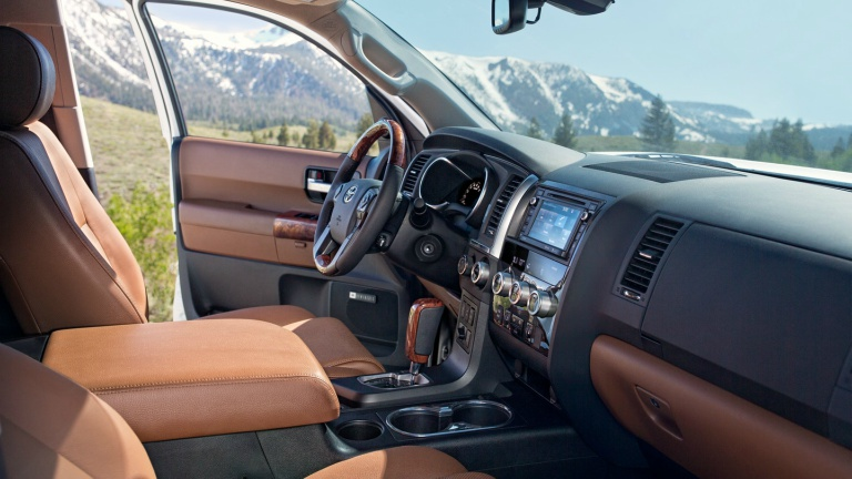 2018 Toyota Sequoia front seats side view