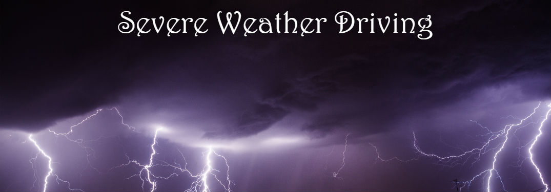 severe weather driving tips banner
