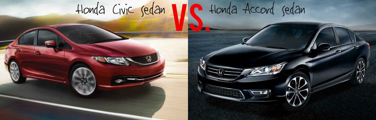 What s the difference between the honda civic and the for Honda accord vs honda civic