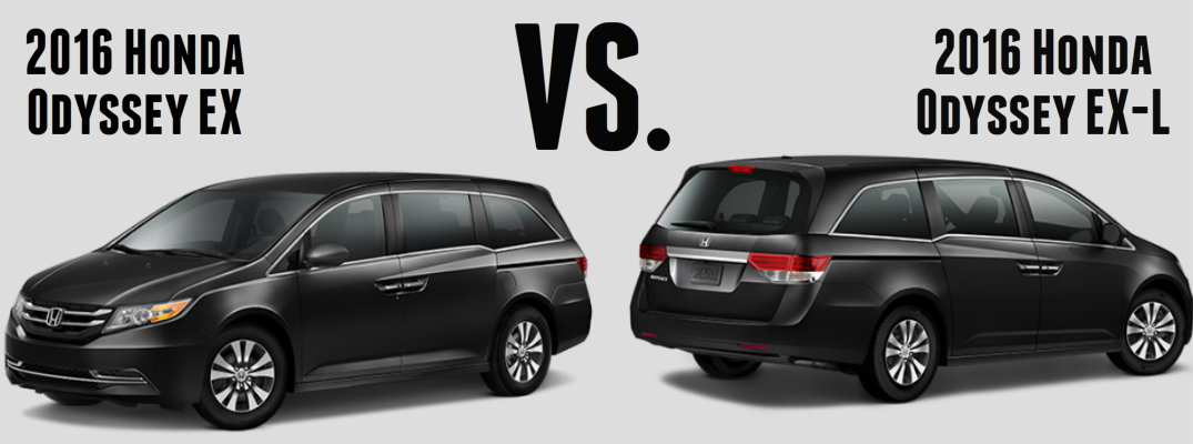 2016 honda odyssey ex vs ex l. Black Bedroom Furniture Sets. Home Design Ideas