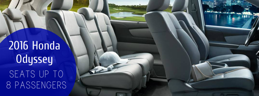 How many seats are in the Honda Odyssey?