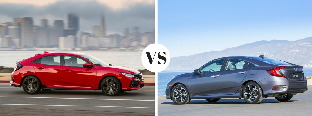 2017 Honda Civic Hatchback Vs 2017 Honda Civic Sedan