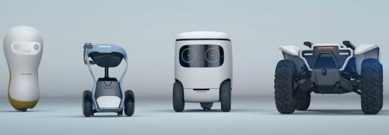 Computer graphic showing the Honda 3E concept robots