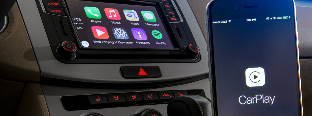 Volkswagen touchscreen with apple carplay pairing