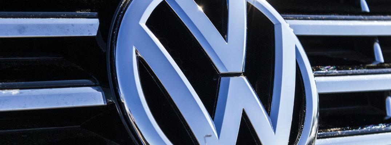 close up of Volkswagen grille logo badge