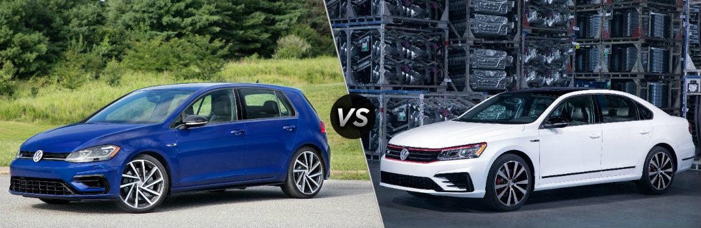 2018 Volkswagen Golf R vs 2018 Volkswagen Passat GT