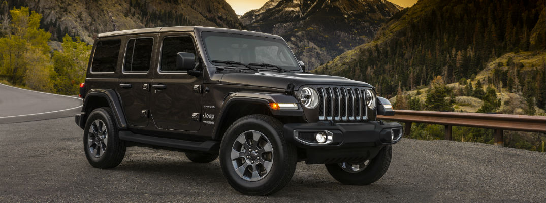 A right front image of a four-door model of the 2018 Jeep Wrangler