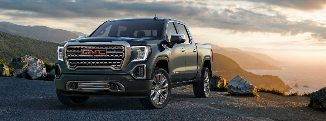 A front right quarter photo of the 2019 GMC Sierra Denali