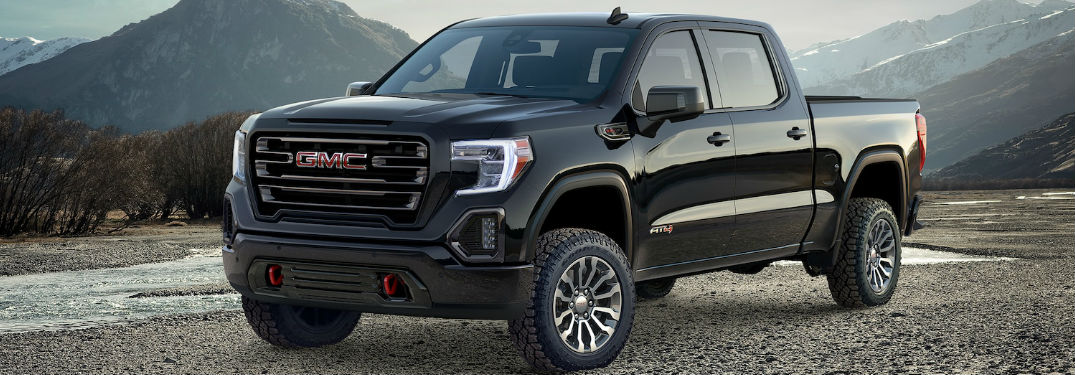 2019 GMC Sierra Exterior View in Black Coloring