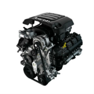 2019 Ram 1500 5.7-Liter HEMI VB Engine on a White Background