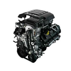 2019 Ram 1500 5.7-Liter HEMI V-8 Engine with eTorque on a White Background