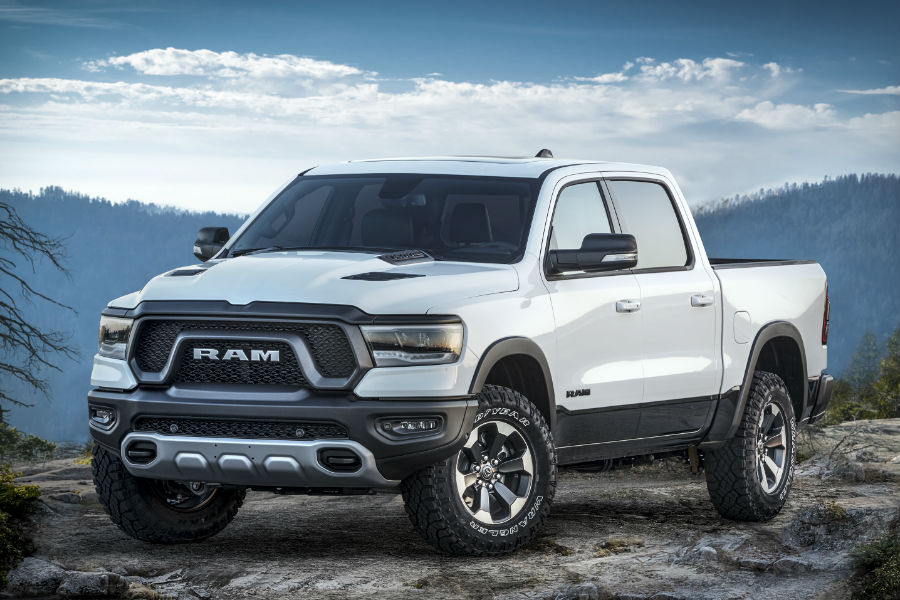 A front right quarter photo for the 2019 Ram Rebel 12.